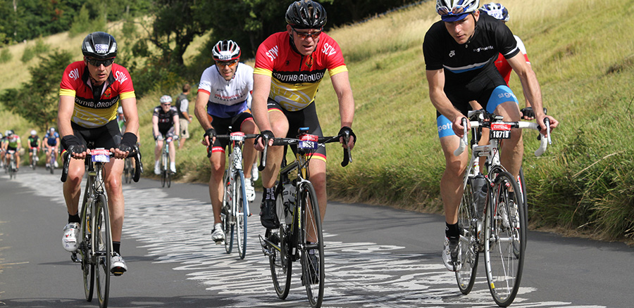 Ride-London sportive on Box Hill